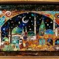 """Александр Емельянов Панно """"Восточная ночь"""". Перегородчатая эмаль на меди Размер"""
