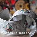 Браслет в берберском стиле с горячей эмалью