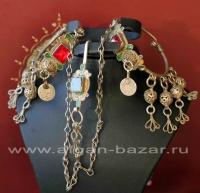 Старые берберские серьги - височные подвески с заколкой